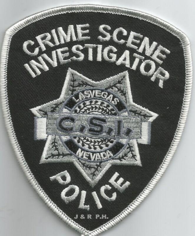 "Las Vegas - C.S.I., Nevada  (3.75"" x 4.5"" size)   shoulder police patch (fire)"