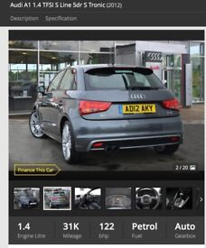 Amazing condition Audi A1 car for sale
