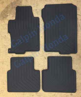 13-17 Genuine OEM Honda Accord 4dr Black All Season Floor Mat Set