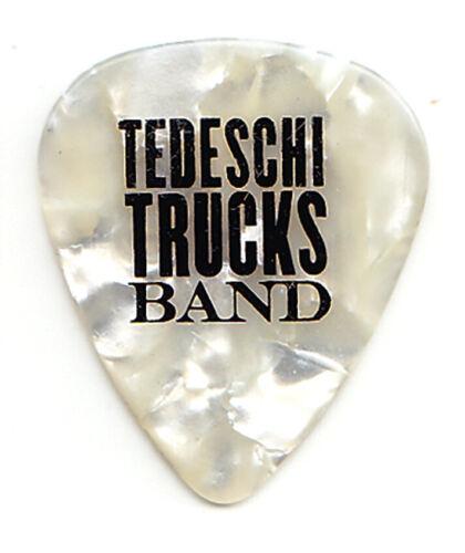 Tedeschi Trucks Single-Sided White Pearl Guitar Pick - 2019 Tour