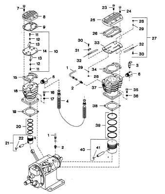 234 Model Ingersoll Rand Compatible Piston Air Complete 3 Lp 30292429 Ref 40