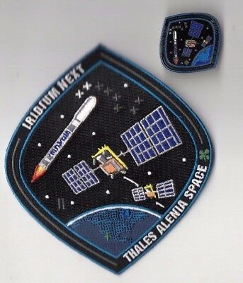 Original VAFB 1ASTS Launched Spacex F9 w/ Iridium-2 Next Patch & Pin Set - 2pcs