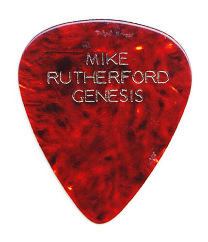 Vintage Genesis Mike Rutherford Brown Faux Tortoise Guitar Pick - 1970s Tours