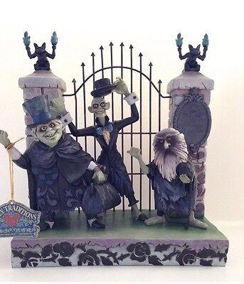 Disney Showcase Jim Shore Haunted Mansion Hitchhiking Ghosts Figurine - New