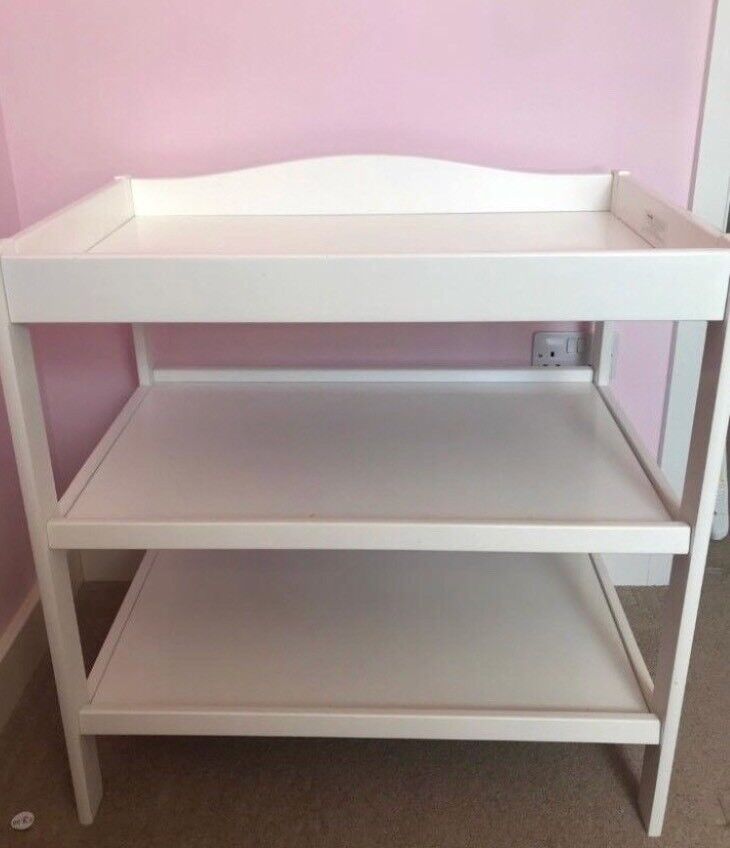 039e8f38d978 White Wooden Baby Changing Unit | in Swindon, Wiltshire | Gumtree