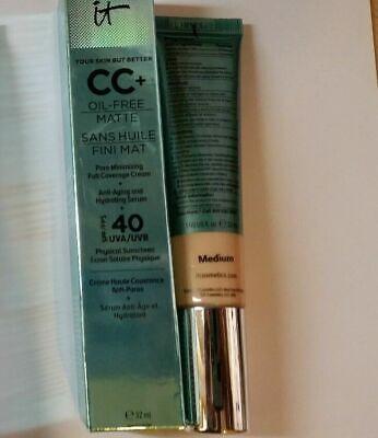 It Cosmetics CC+ Oil-Free Finish Full Coverage Cream & Anti Aging 32ml (Medium)