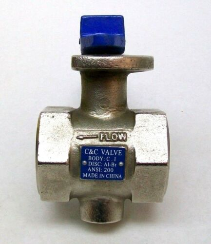 """NEW C & C VALVE T200 SERIES 2"""" THREADED END BUTTERFLY VALVE 200PSI FREE SHIP IG"""