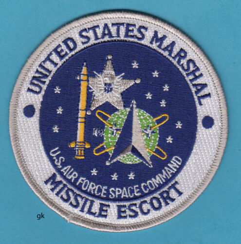 US MARSHAL  MISSILE ESCORT USMS  AIR FORCE SPACE COMMAND POLICE PATCH