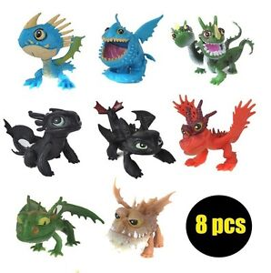 How To Train Your Dragon Playset 8 Figure Cake Topper * USA SELLER* Toy Doll Set