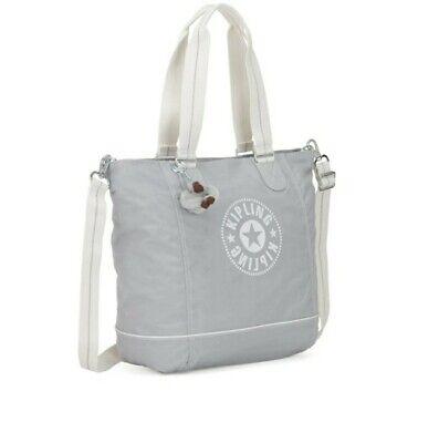 Kipling Grey Shopper Tote Bag