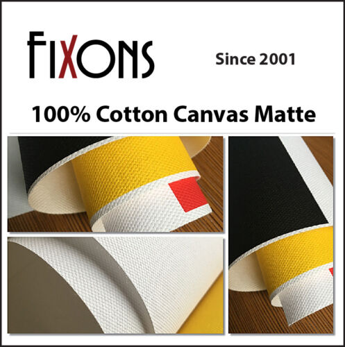 "100% Cotton Inkjet Canvas for Epson - Matte Finish 44""x40"