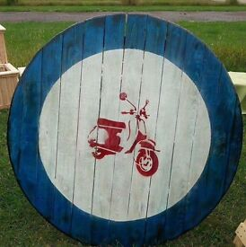 SCOOTER PAINTED ON RECLAIMED TIMBER