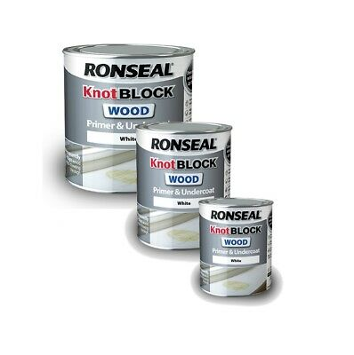 Ronseal - Knot Block Wood Primer and Undercoat White - 250ml / 750ml / 2.5L