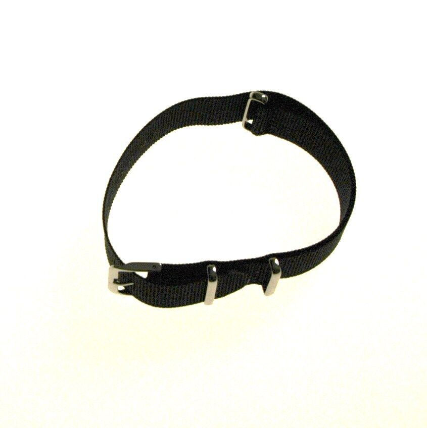 Nylon Military Style Dive Black Watch Strap Band 18mm, 20mm, 22mm Fits Tissot