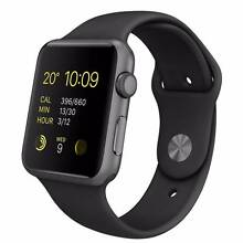 UNUSED - Apple Watch Sport 42mm Space Grey with Black Sport Band North Sydney North Sydney Area Preview