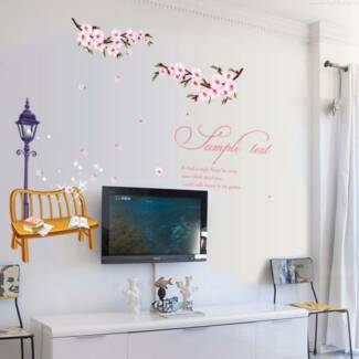 Cherry Blossom Branches Tree Romantic Wall Decal/Wallsticker