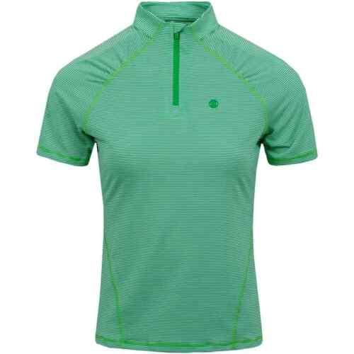 G/Fore Textured Stripe Quarter Zip Top $145 Basil/Snow XS S M L Womens Golf