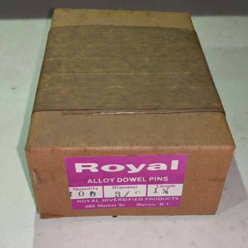 """Pack of 100 - 3/8"""" x 1-1/4"""" Royal Dowel Pins Alloy Steel"""