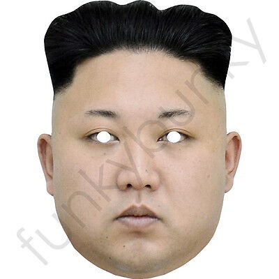 Kim Jong-un - Celebrity Fun Card Mask - All Our Masks Are Pre-Cut (Celebrity Mask)