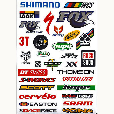 26 x Outdoor Bicycle Cycling Mountain Bike Skateboard Decal Stickers *1 Sheet UK