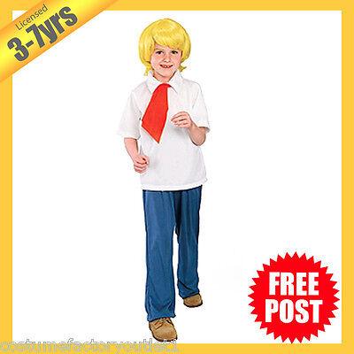Fred Jones Costume (RUBIES Boys Costume Fancy Dress Licensed Scooby Doo Fred Jones Deluxe)