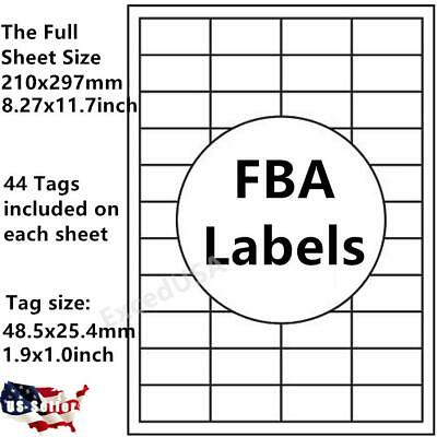 440 Self Adhesive Tag Sticker Label A4 Labels Shipping Address 44 Tags Paper