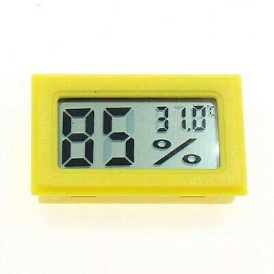 Mini Digital Lcd Temperature Humidity Thermometerhygrometer Sensor Yellow
