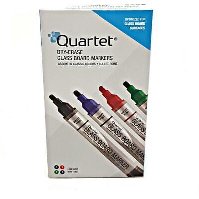 Quartet Dry-eraser Glass Board Markers 4 Pack