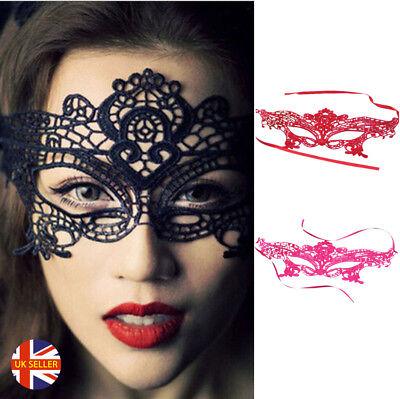 ngers Masquarade Sexy Black Red Pink Lace Eye Mask (Masquarade Maske)