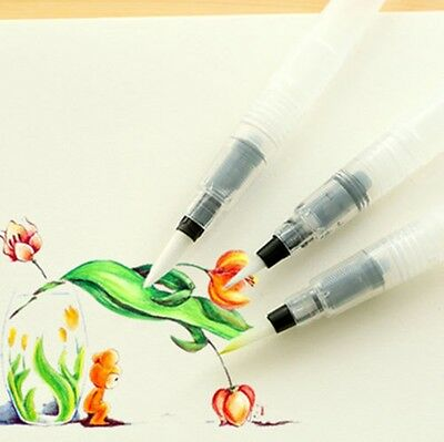 3Pcs Pilot Ink Pen For Water Brush Watercolor Calligraphy Painting Tool Set