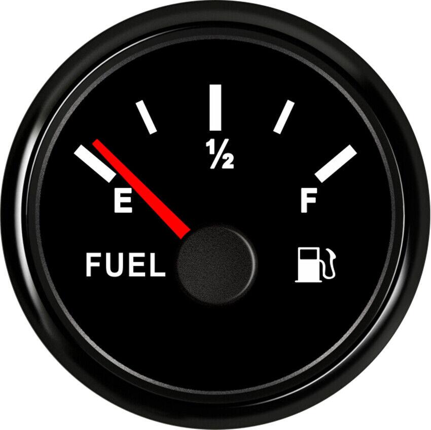 Black 52MM Fuel Level Gauge 0-90 ohms 9-32VDC For Car Truck Motorcycle USA STOCK