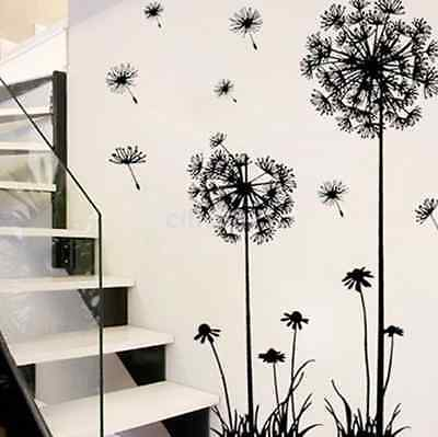 Home Decoration - Large Removable Vinyl Art DIY Dandelion Wall Sticker Decal Mural Home Room Decor