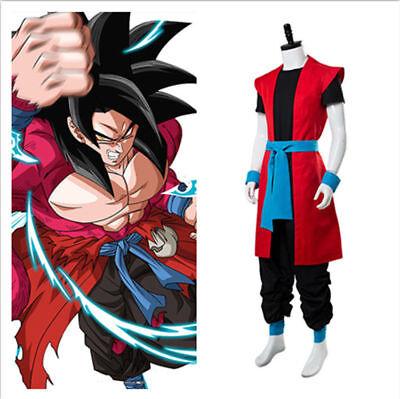 Super Dragon Ball Heroes:Universe Mission Son Goku Saiyan 4 Cosplay - Super Saiyan Goku Costume