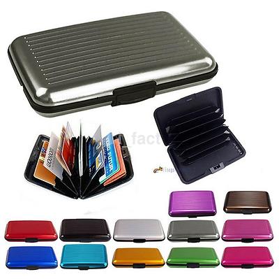 Fashion Metal Aluminium Business Id Credit Card Wallet Holder Pocket Case Box