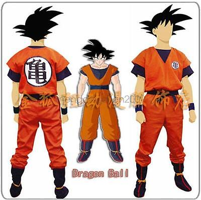 Dragon Ball Son Goku Clothes+ Wig Costume Cosplay Fashion Cool
