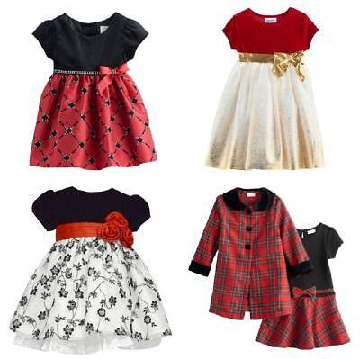 NWT Toddler Girl Christmas Dress Blueberi Bonnie Jean Youngland Carter's 2T-4T  - 4t Christmas Dresses