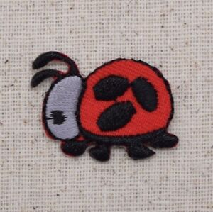 Small/Mini - Red/Black Ladybug Lady Bug - Iron on Applique/Embroidered Patch