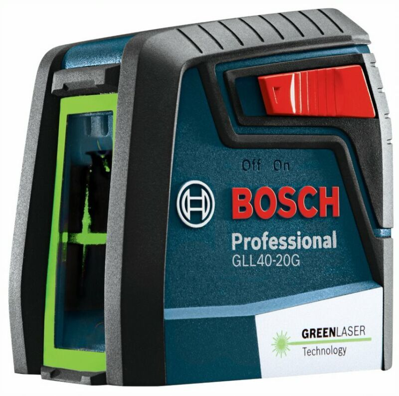 Bosch GLL40-20G Green Beam Self Leveling Cross Line Laser Level with MM2 Mount