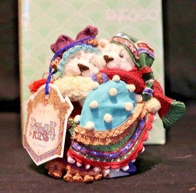 """New Ensco Polar Kins Christmas Figurine """"Your Hug Warms The Winter"""""""