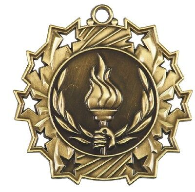 Victory Torch Medals Award Trophy Team Sports W/Free Lanyard FREE SHIPPING TS416