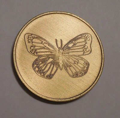 BRONZE AA AL-ANON NA ALCOHOLICS ANONYMOUS BUTTERFLY CHIP COIN TOKEN MEDALLION   for sale  Philadelphia
