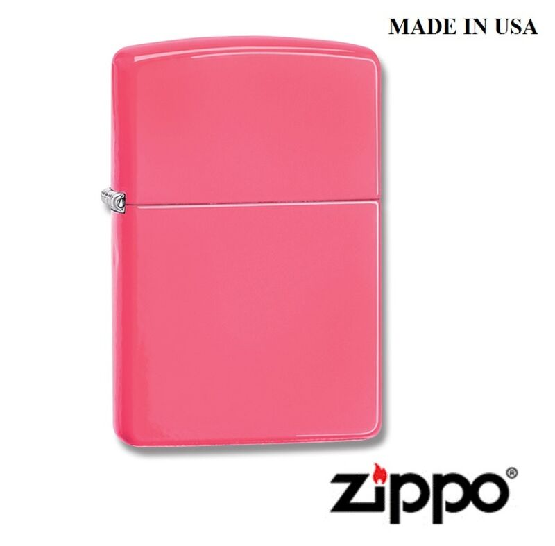 Beautiful Zippo® Lighter Neon Pink in gift box Free shipping in USA