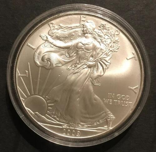 2009 UNCIRCULATED. SILVER AMERICAN EAGLE 1 Oz AIR-TITE CAPSULE .999 FINE SILVER - $33.00