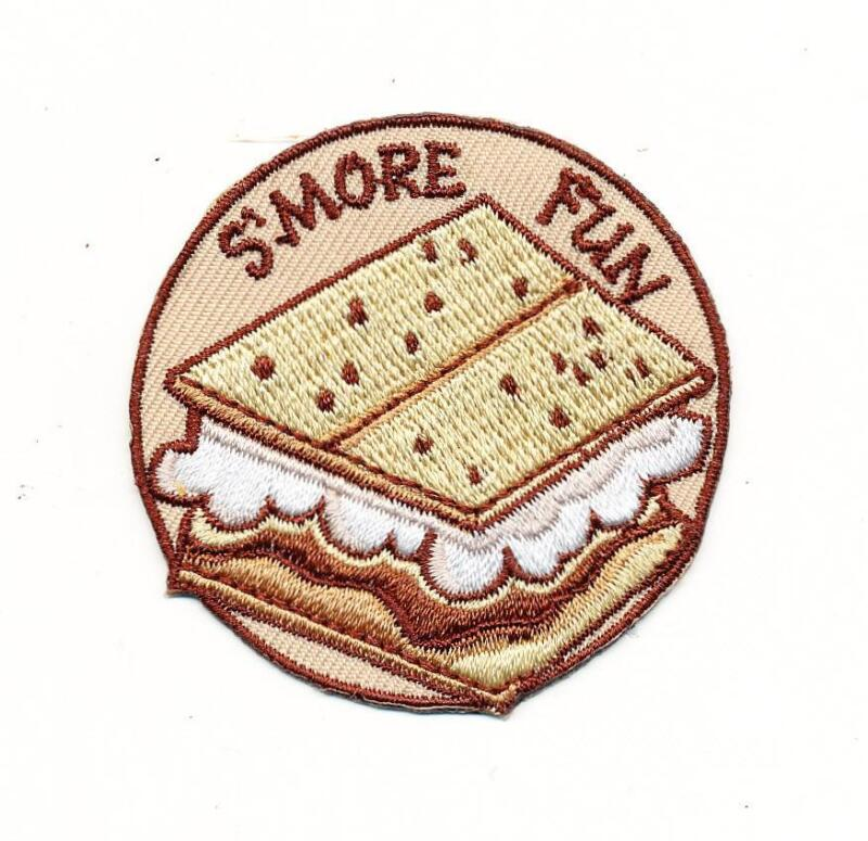Girl Boy Cub SMORE FUN Patches Crest Badge SCOUT GUIDE S