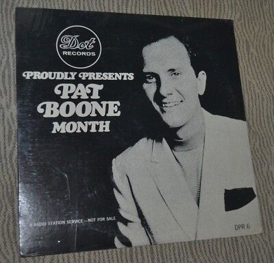 Verpackt Radio Station Promo LP Dot Stolz Präsentiert Pat Boone Monat Dpr 6 1967
