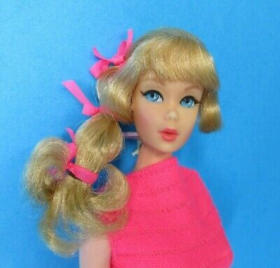 Vintage BARBIE - TALKING BARBIE Doll #1160 - Blonde Hair Pink Swimsuit