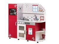 Plum wooden interactive kitchen