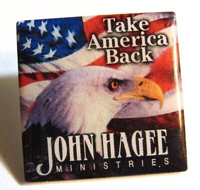 John Hagee Ministries Lapel Pin - Take America Back Religion Church Spiritual