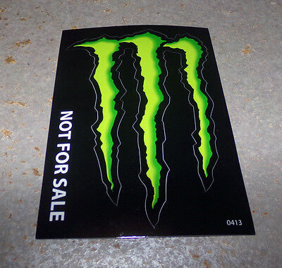 """Monster Energy Drink DECAL STICKER """"4 x 3 inches"""" Lot of 1"""