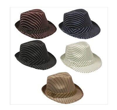 72 PC Bulk Wholesale Lot Assorted Color Mesh Pinstripe Fedora Hats  - Hats Bulk